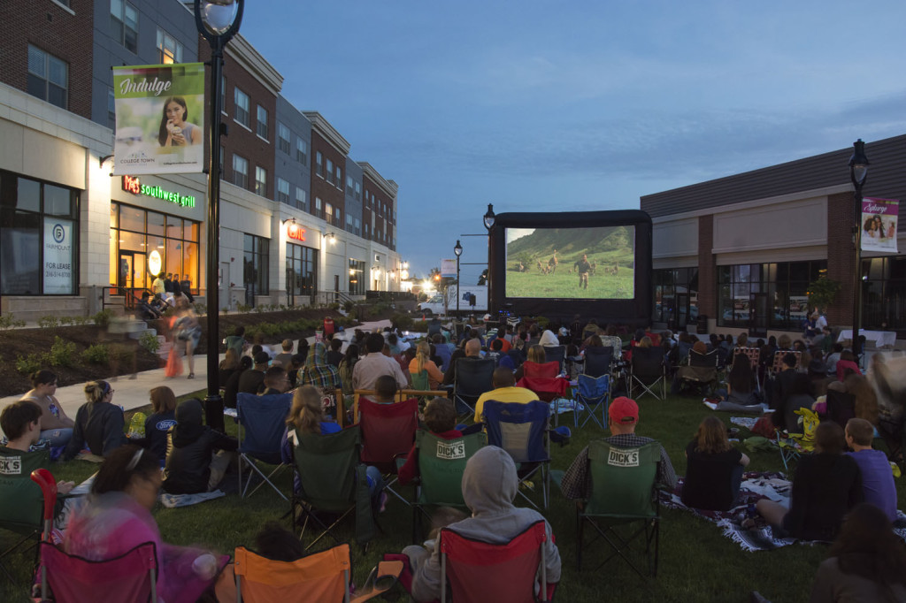 Summer outdoor movie series back to school for A list salon rochester