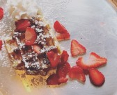 Liege Waffles With Strawberries and Nutella