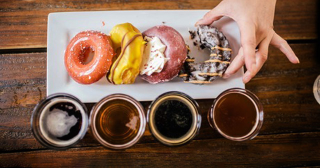 Outdoor Donut and Craft Beer Pairing