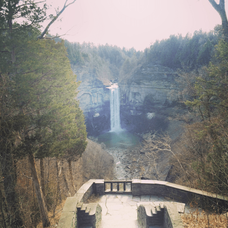 Ithaca's Taughannock Overlook, one of the 150 waterfalls in a 10 mile radius