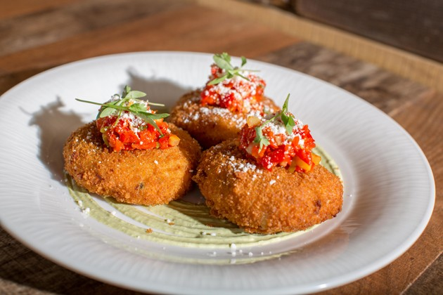 Crab and Poblano Arancini